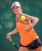 Hilversum, Netherlands, August 7, 2017, National Junior Championships, NJK, Anouk Koevermans<br /> Photo: Tennisimages/Henk Koster