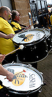 Photo: Richard Lane/Richard Lane Photography. Wasps v Exeter Chiefs.  European Rugby Champions Cup Quarter Final. 09/04/2016. Wasps drums.