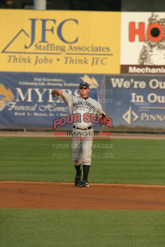 Ryan Zimmerman of the Harrisburg Senators during the 2005 season.  (Mike Janes/Four Seam Images)