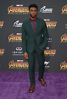 """23 April 2018 - Hollywood, California - Chadwick Boseman. Disney and Marvel's """"Avengers: Infinity War"""" Los Angeles Premiere held at Dolby Theater. Photo Credit: F. Sadou/AdMedia"""