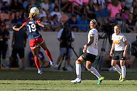 Houston, TX - Sunday Oct. 09, 2016: Crystal Dunn, Abby Erceg during the National Women's Soccer League (NWSL) Championship match between the Washington Spirit and the Western New York Flash at BBVA Compass Stadium. The Western New York Flash win 3-2 on penalty kicks after playing to a 2-2 tie.