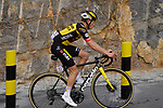 Koen Bouwman (NED) Team Jumbo-Visma climbs the final 4km of Jais Mountain during Stage 5 of the 2021 UAE Tour running 170km from Fujairah to Jebel Jais, Ras Al Khaimah, UAE. 25th February 2021.  <br /> Picture: Eoin Clarke   Cyclefile<br /> <br /> All photos usage must carry mandatory copyright credit (© Cyclefile   Eoin Clarke)