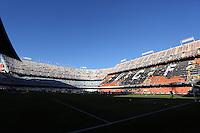 Valencia, Spain. Thursday 19 September 2013<br /> Pictured: Mestalla stadium.<br /> Re: UEFA Europa League game against Valencia C.F v Swansea City FC, at the Estadio Mestalla, Spain,