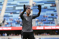 SAN JOSE, CA - AUGUST 13: Daniel Vega #17 of the San Jose Earthquakes before a game between Vancouver Whitecaps and San Jose Earthquakes at PayPal Park on August 13, 2021 in San Jose, California.