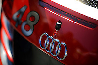 22-25 January, 2015, Daytona Beach, Florida USA<br /> Logo detail, #48 Audi entry.<br /> ©2015, F. Peirce Williams