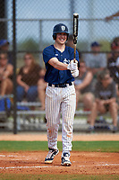 Southern Maine Huskies shortstop Sam Dexter (7) at bat during a game against the St. Scholastica Saints on March 20, 2016 at Lake Myrtle Park in Auburndale, Florida.  Southern Maine defeated St. Scholastica 5-3.  (Mike Janes/Four Seam Images)