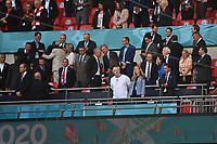 7th July 2021, Wembley Stadium, London, England; 2020 European Football Championships (delayed) semi-final, England versus Denmark;  View of the VIP stands, in the middle Prime Minister Boris JOHNSON with wife Carrie SYMONDS, on the left Prince WILLIAM