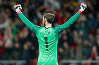Spain's David De Gea celebrates goal during international friendly match. March 27,2018. *** Local Caption *** © pixathlon<br /> Contact: +49-40-22 63 02 60 , info@pixathlon.de