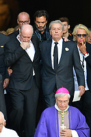 Pascal DESPREZ - Anthony DELON - Alain DELON - VÈronique DE VILLELE - ObsËques de MIREILLE DARC en l'Èglise Saint-Sulpice - 01/09/2017 - Paris, France
