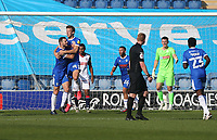 Colchester United's Tom Eastman celebrates scoring his side's first goal <br /> <br /> Photographer Rob Newell/CameraSport<br /> <br /> The EFL Sky Bet League Two - Colchester United v Bolton Wanderers - Saturday 19th September 2020 - Colchester Community Stadium - Colchester<br /> <br /> World Copyright © 2020 CameraSport. All rights reserved. 43 Linden Ave. Countesthorpe. Leicester. England. LE8 5PG - Tel: +44 (0) 116 277 4147 - admin@camerasport.com - www.camerasport.com