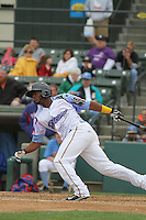 Myrtle Beach Pelicans shortstop Hanser Alberto #3 at bat during a game against the Salem Red Sox at Ticketreturn.com Field at Pelicans Ballpark on April 6, 2014 in Myrtle Beach, South Carolina. Salem defeated Myrtle Beach 3-0. (Robert Gurganus/Four Seam Images)