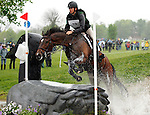 LEXINGTON, KY - APRIL 30: #19 Parker and James Alliston compete in the Cross Country Test for the Rolex Kentucky 3-Day Event at the Kentucky Horse Park.  April 30, 2016 in Lexington, Kentucky. (Photo by Candice Chavez/Eclipse Sportswire/Getty Images)
