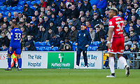 Middlesbrough manager Tony Pulis during the Sky Bet Championship match between Cardiff City and Middlesbrough at the Cardiff City Stadium, Cardiff, Wales on 17 February 2018. Photo by Mark Hawkins / PRiME Media Images.