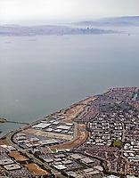 aerial photograph Alameda Island, California
