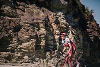 Pavel Kochetkov (RUS/Katusha-Alpecin) up the final climb of the day (in Spain!): the Col du Portillon (Cat1/1292m)<br /> <br /> Stage 16: Carcassonne > Bagnères-de-Luchon (218km)<br /> <br /> 105th Tour de France 2018<br /> ©kramon