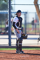 Nick Beck (50), from Littleton, Massachusetts, while playing for the Nationals during the Under Armour Baseball Factory Recruiting Classic at Red Mountain Baseball Complex on December 28, 2017 in Mesa, Arizona. (Zachary Lucy/Four Seam Images)