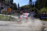 24th April 2021; Zagreb, Croatia; WRC Rally of Croatia, stages 9-16; Craig Breen - Hyundai I20 WRC