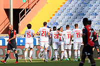 esultanza gol Francesco Lisi <br /> during the Italy cup football match between Genoa CFC and Perugia at Stadio Marassi in Genova (Italy), August 13th, 2021. Photo Image Sport / Insidefoto
