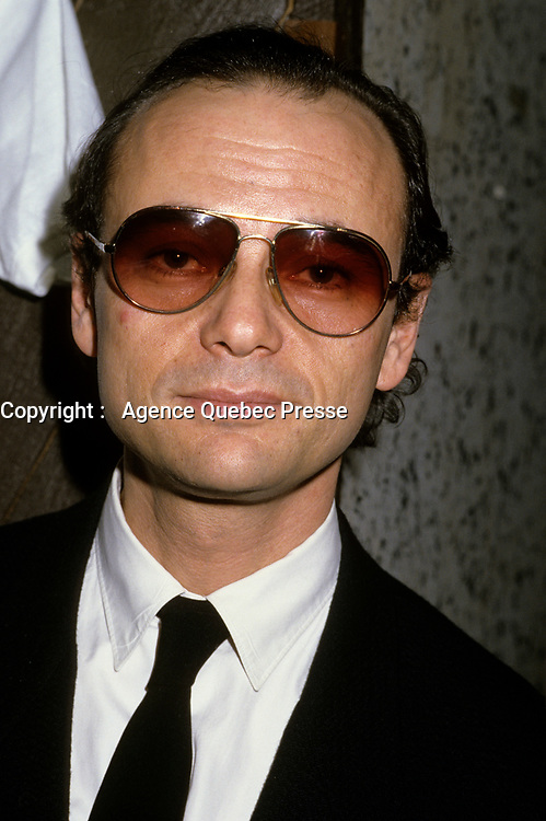 Montreal (Qc) CANADA - March 1986 - Mose Znaimer at the news conference to announce the french version of Much Music : Much Music en Francais later named Musique PLus,<br /> <br /> <br /> PHOTO :  Agence Quebec Presse