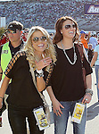NASCAR fans watch the Nascar Sprint Cup Series AAA Texas 500 race at Texas Motor Speedway in Fort Worth,Texas. Sprint Cup Series driver Jimmie Johnson (48) wins the AAA Texas 500 race.