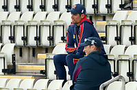England batting coach Marcus Trescothick chats to Sir Alastair Cook during Worcestershire CCC vs Essex CCC, LV Insurance County Championship Group 1 Cricket at New Road on 30th April 2021
