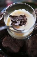 Europe/France/Rhône-Alpes/74/Haute-Savoie/Manigod: Soupe de polenta aux truffes , recette d'Eric Guelpa - Chalets-Hotels de la Croix Fry