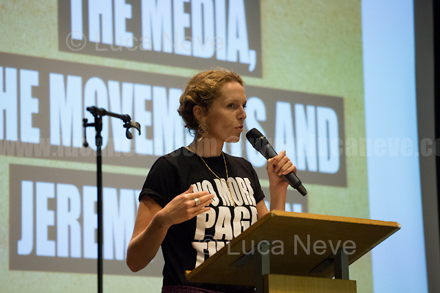 """Angela Towers (Member of No More Page 3 Campaign).<br /> <br /> London, 15/09/2016. Today, """"Media Reform Coalition"""", held a meeting at Student Central in Malet street called """"The Media, The Movements and Jeremy Corbyn"""". From the organisers press release: <<[…] As part of the Media Reform Coalition's ongoing campaign for a media that informs, represents and empowers the public, this event will bring together media activists, workers and scholars to explore the media's misrepresentation of progressive movements and voices and shape a response that does them justice […]>>. <br /> Speakers included: Ken Loach, film and television Director; Justin Schlosbergd, media activist, researcher and Lecturer at Birkbeck University of London; Greg Philo, Professor and Director of Glasgow University Media Unit; Kam Sandhu, co-founder of Real Media; Chris Nineham, National Officer of Stop The War Coalition; James Schneider, National Organiser of Momentum; Angela Towers member of No More Page 3 Campaign; Des Freedman Chair of the event, member of the Media Reform Coalition and Professor of Media and Communications in the Department of Media and Communications at Goldsmiths, University of London.<br /> <br /> For more information please click here: http://www.mediareform.org.uk/blog/5-myths-corbyn-media-bias-labour & https://www.facebook.com/MediaReformUK/?fref=ts<br /> <br /> For the Video of the Event please click here: https://www.youtube.com/watch?v=mNbRpjy51Io"""