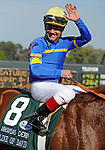 10 April 10: Line of David (no. 8), ridden by Jon Court and trained by John Sadler, wins the 74th running of the grade 1 Arkansas Derby for three year olds at Oaklawn Park in Hot Springs, Arkansas.