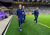 ORLANDO, FL - NOVEMBER 15: Alfredo Morales #15 of the United States walks onto the field during a game between Canada and USMNT at Exploria Stadium on November 15, 2019 in Orlando, Florida.