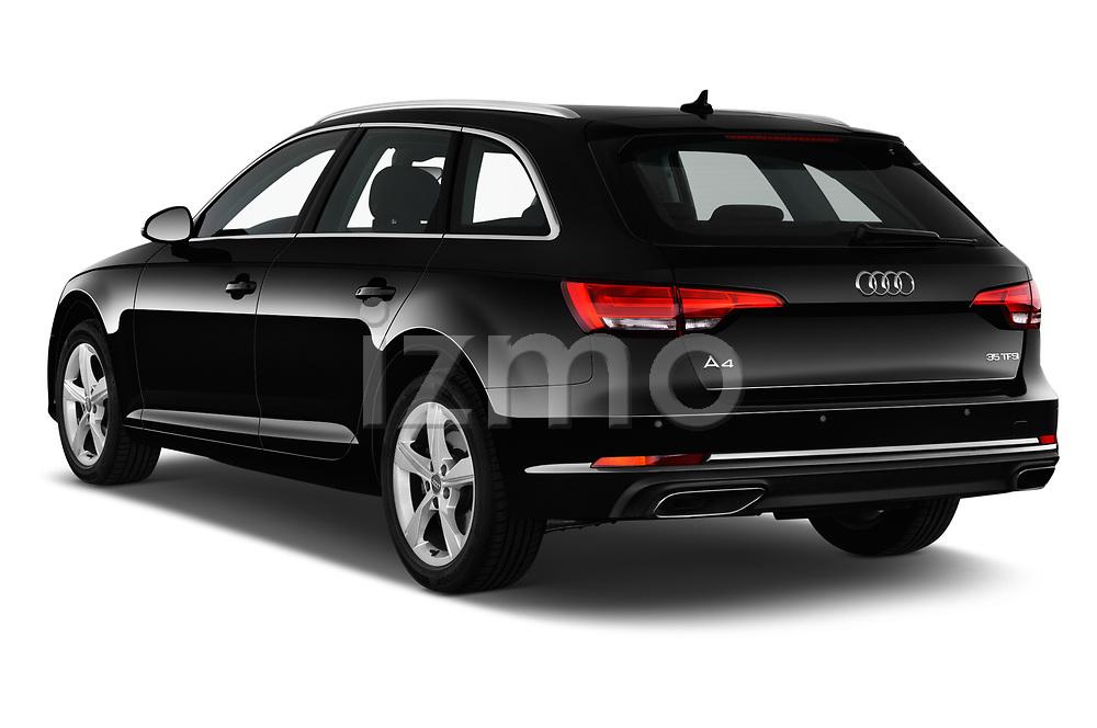 Rear three quarter view of a 2019 Audi A4-Avant Design 5 Door Wagon angular rear