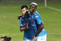 Victor Osimhen of SSC Napoli and Hirving Lozano <br /> during the friendly football match between SSC Napoli and L Aquila 1927 at stadio Patini in Castel di Sangro, Italy, August 28, 2020. <br /> Photo Cesare Purini / Insidefoto