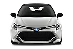 Car photography straight front view of a 2019 Toyota Corolla-Touring-Sports Hybrid-Style 5 Door Wagon Front View