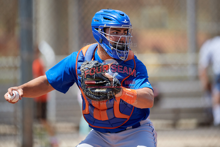New York Mets Brandon Brosher (21) during practice before a minor league Spring Training game against the Miami Marlins on March 26, 2017 at the Roger Dean Stadium Complex in Jupiter, Florida.  (Mike Janes/Four Seam Images)