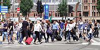 Nederland  Amsterdam - 2018.  Drukte bij Centraal Station.    Foto Berlinda van Dam / Hollandse Hoogte.