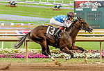 July 8, 2020: Libertyrun #13, ridden by Miguel Mena, wins a maiden special weight race on Indiana Derby Day at Indiana Grand Casino in Shelbyville, Indiana. Libertyrun is the first offspring from Eclipse Award and Breeders Cup winning sprinter Runhappy. Cady Coulardot/Eclipse Sportswire/CSM