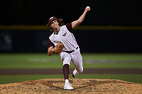 Virginia Tech Hokies relief pitcher Noah Johnson (27) in action against the Georgia Tech Yellow Jackets at English Field on April 16, 2021 in Blacksburg, Virginia. (Brian Westerholt/Four Seam Images)