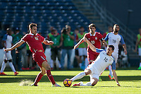 San Diego, CA - Sunday January 29, 2017: Marko Gobeljic, Sacha Kljestan during an international friendly between the men's national teams of the United States (USA) and Serbia (SRB) at Qualcomm Stadium.