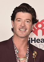 """HOLLYWOOD, CA - MAY 27:  Robin Thicke at the 2021 """"iHeartRadio Music Awards"""" airing live from The Dolby Theatre in Los Angeles, Thursday, May 27 (8:00-10:00 PM ET live / PT tape-delayed) on FOX. CR: Scott Kirkland/FOX/PictureGroup © 2021 FOX MEDIA, LLC. (Photo by Scott Kirkland/FOX/PictureGroup)"""