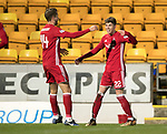 St Johnstone v Aberdeen…13.12.17…  McDiarmid Park…  SPFL<br />Ryan Christie celebrates his goal with Kari Arnason<br />Picture by Graeme Hart. <br />Copyright Perthshire Picture Agency<br />Tel: 01738 623350  Mobile: 07990 594431