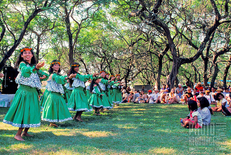 EDITORIAL ONLY. Hula performance at Ka Hula Piko Festival on Molokai