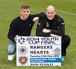 Rangers u20 captain Andy Murdoch and coach Gordon Durie promoting the Youth Cup Final against Hearts