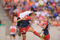 Houston, TX - Sunday Oct. 09, 2016: Jessica McDonald, Whitney Church during the National Women's Soccer League (NWSL) Championship match between the Washington Spirit and the Western New York Flash at BBVA Compass Stadium.