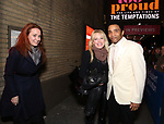 """Sierra Bogess and Sherie Rene Scott with James Harkness starring in """"Ain't Too Proud: The Life And Times Of The Temptations"""" after their first Broadway preview performance at The Imperial Theatre on February 28, 2019 in New York City."""