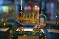 CHINA. Shanghai. Models of Shanghai's Oriental Pearl Tower and France's Eiffel Tower. 2008.