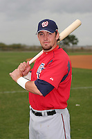 Washington Nationals minor leaguer Luke Montz during Spring Training at the Carl Barger Training Complex on March 20, 2007 in Melbourne, Florida.  (Mike Janes/Four Seam Images)