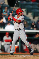 April 10, 2010:  Shortstop Pedro Lopez of the Harrisburg Senators during a game at Blair County Ballpark in Altoona, PA.  Harrisburg is the Double-A Eastern League affiliate of the Washington Nationals.  Photo By Mike Janes/Four Seam Images