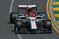 March 16, 2019: Antonio Giovinazzi (ITA) #99 from the Alfa Romeo Racing team rounds turn 2 during practice session three at the 2019 Australian Formula One Grand Prix at Albert Park, Melbourne, Australia. Photo Sydney Low