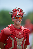 St. Louis Cardinals catcher Steve Bean (8) during a Minor League Spring Training game against the New York Mets on March 31, 2016 at Roger Dean Sports Complex in Jupiter, Florida.  (Mike Janes/Four Seam Images)