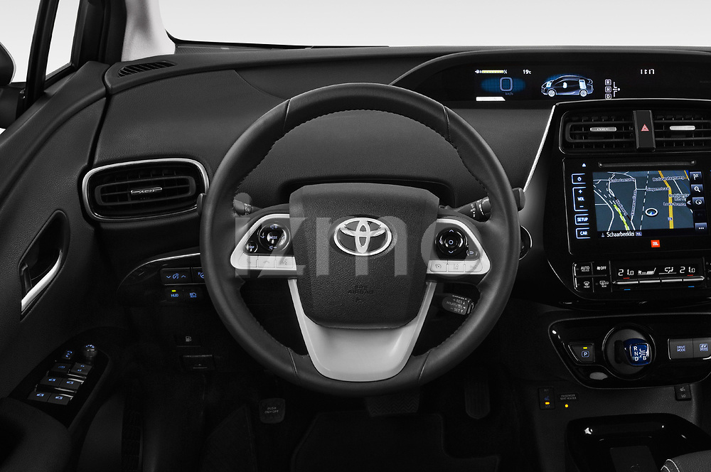 Car pictures of steering wheel view of a 2018 Toyota Prius Lounge 5 Door Hatchback