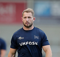 9th September 2020; AJ Bell Stadium, Salford, Lancashire, England; English Premiership Rugby, Sale Sharks versus Saracens;  Sam Hill of Sale Sharks warms up before the game against Saracens